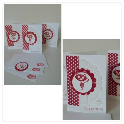 carte petit chat stampin up