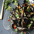 Moules  la citronelle, galanga et gingembre