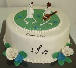 Gâteau squelettes musicaux