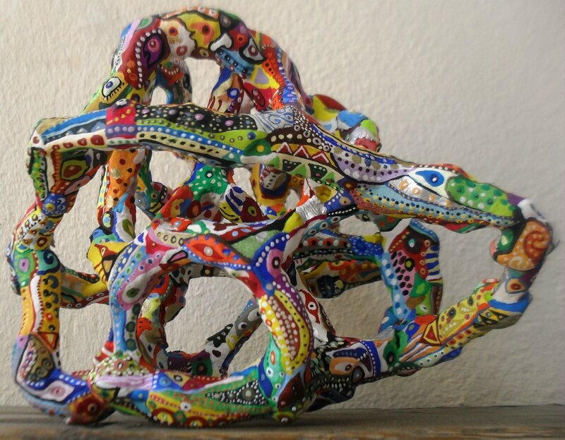 Hervé THAREL SCHMIMBLOCK'S gaëtal 2015 - gouache T7 sur argile 15x11,5cm collection Ramona COSIO 2