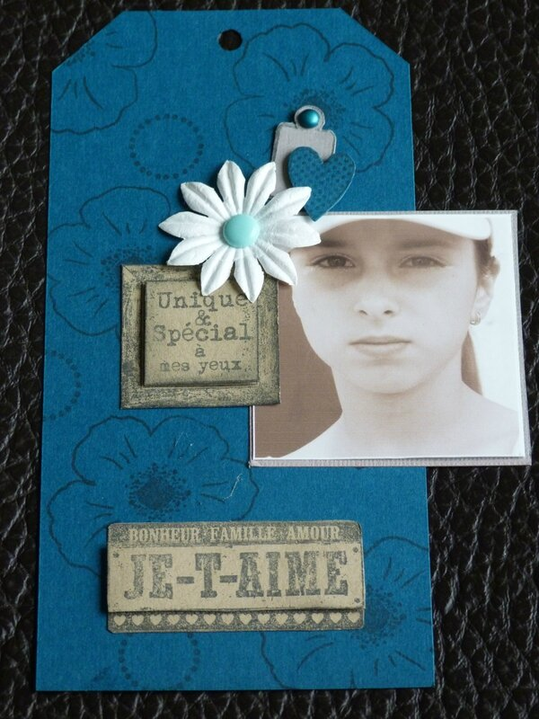Scraplift du tag de Sylvie