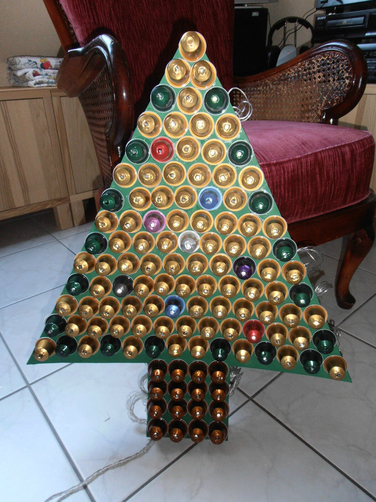 Top Sapin de Noël en capsules de Nespresso - Brico-déco-couture and co TD06