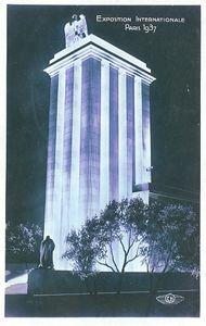 Pavillon de l'Allemagne de nuit