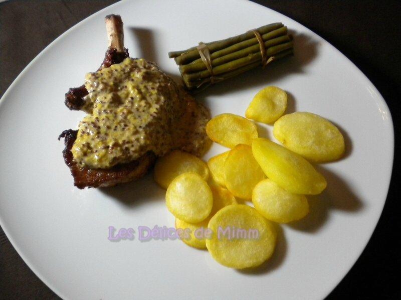 Côtes de porc ibérique (Iberico) à la moutarde à l'ancienne 4