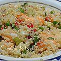 Taboulé de quinoa aux crevettes