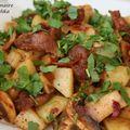 Salade tiède de gésiers de poulet au piment nora
