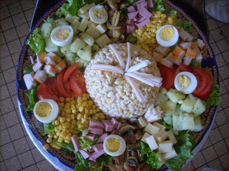 Decoration salade simple