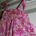 Robe bain de soleil en Liberty Thorpe rose