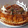 Galette des rois à la crème d'amande et aux pommes caramélisées