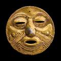 Masque cultuel, nariño, colombie, 400-1250 après jc
