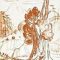 André maire (1898 - 1984) dessin à la sanguine