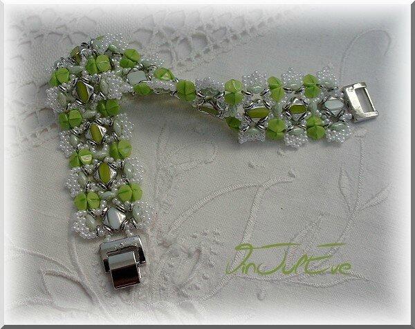 bracelet Sulya blanc vert
