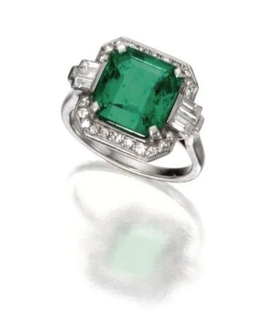 Platinum__Emerald_and_Diamond_Ring__Circa_1925