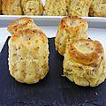 Un tour en cuisine 337: minis bouchées au jambon et fromage ail et fines herbes