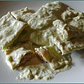 Raviolis au saumon, sauce aux poireaux