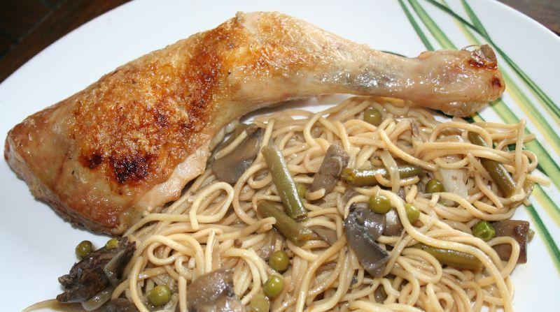 cuisse de poulet au wok et nouilles chinoises amafacon. Black Bedroom Furniture Sets. Home Design Ideas
