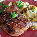 Cuisses de canard roties au four et pommes de terre fondantes