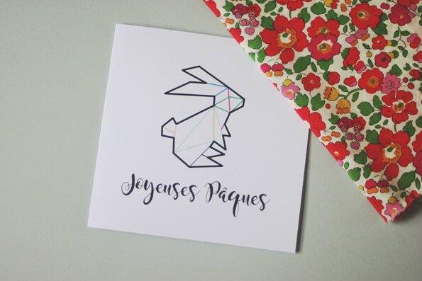 carte_lapin_de_paques_origami_couleur