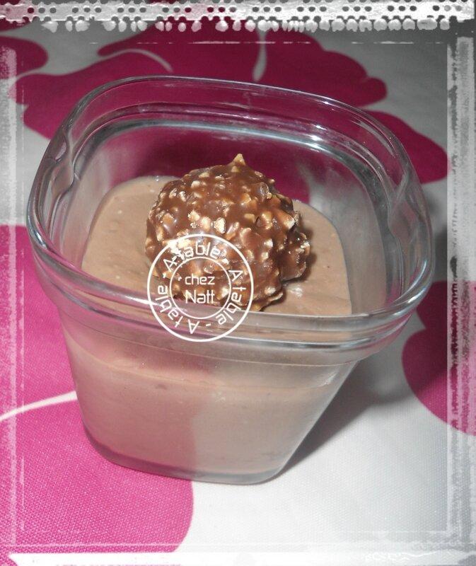 petites crèmes aux rochers Ferrero