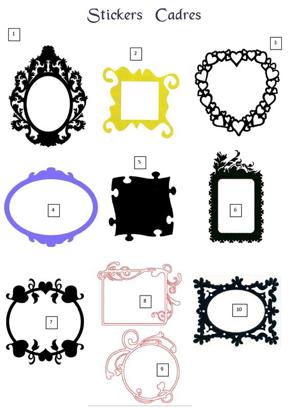 stickers cadres photo de arabesques stickers d co. Black Bedroom Furniture Sets. Home Design Ideas