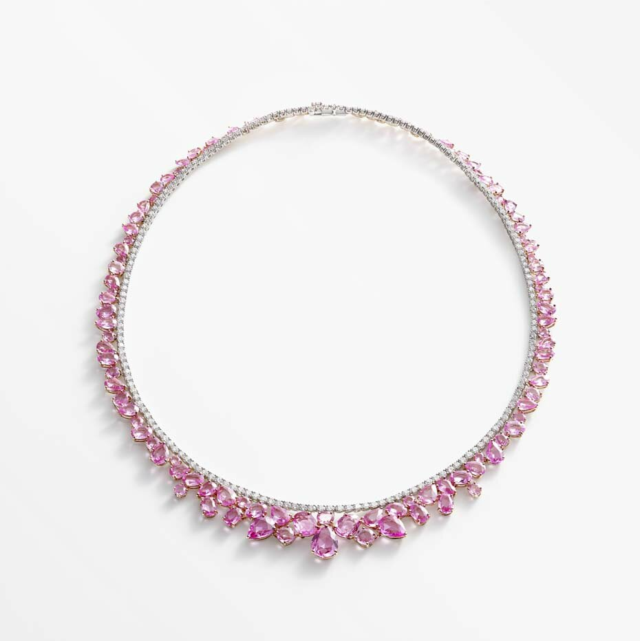 William & Son, Beneath the Rose collection of pink sapphires