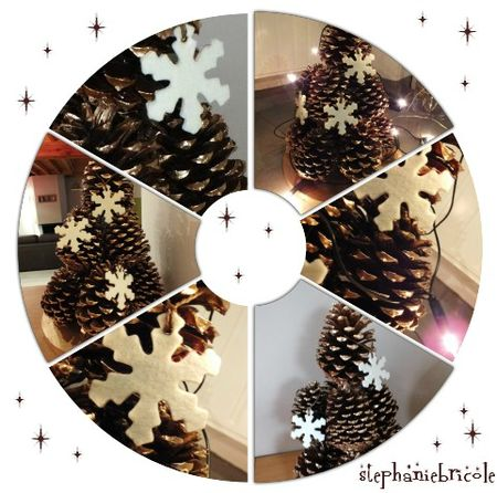 tuto deco nature pour noel faire un sapin avec des. Black Bedroom Furniture Sets. Home Design Ideas