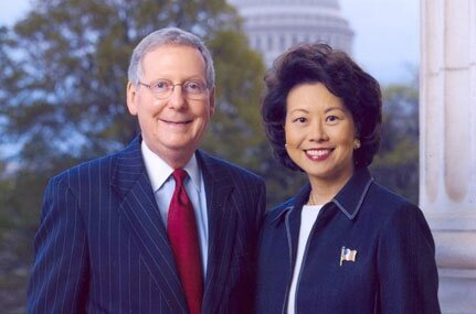 Elaine Chao and husband Mitch McConnell