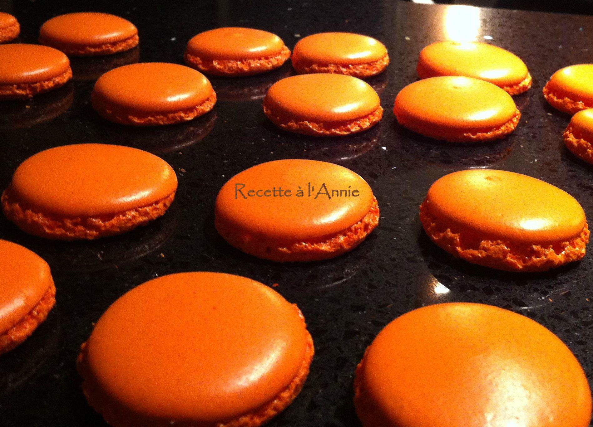 macarons orange citron pour faire sourire lautomne - Colorant En Poudre Pour Macarons
