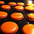 Macarons orange-citron,