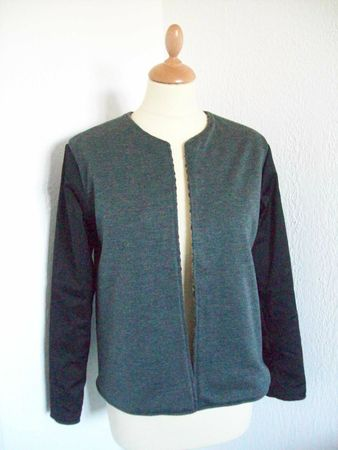 burda modle veste boite bicolore1