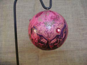 grande boule indi rose