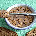 Crème dessert diététique chocolatée aux biscuits noisette à seulement 110kcal (sans sucre ajouté, sans oeufs et sans cuisson)