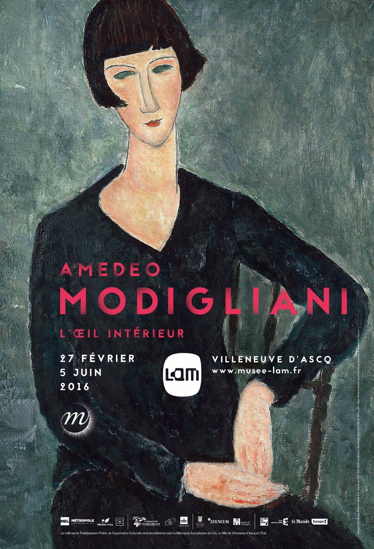 """Amedeo Modigliani, l'oeil intérieur"" au LaM"