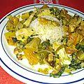 Poulet à la papaye verte et aux champignons