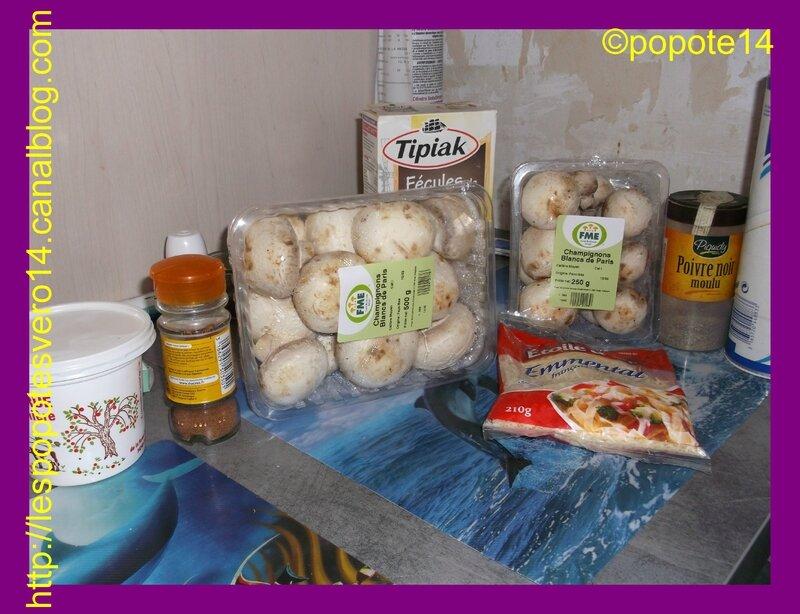 gratin champignons jambon1