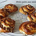 Petits pains aux raisins / petits pains aux abricots