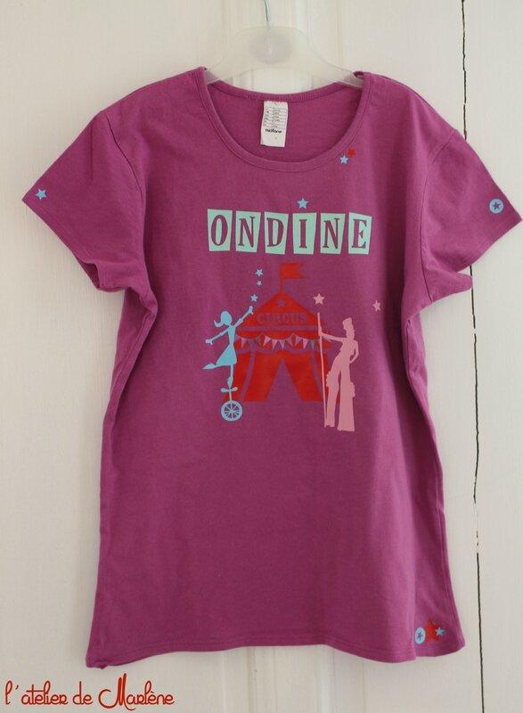 tee shirt Ondine