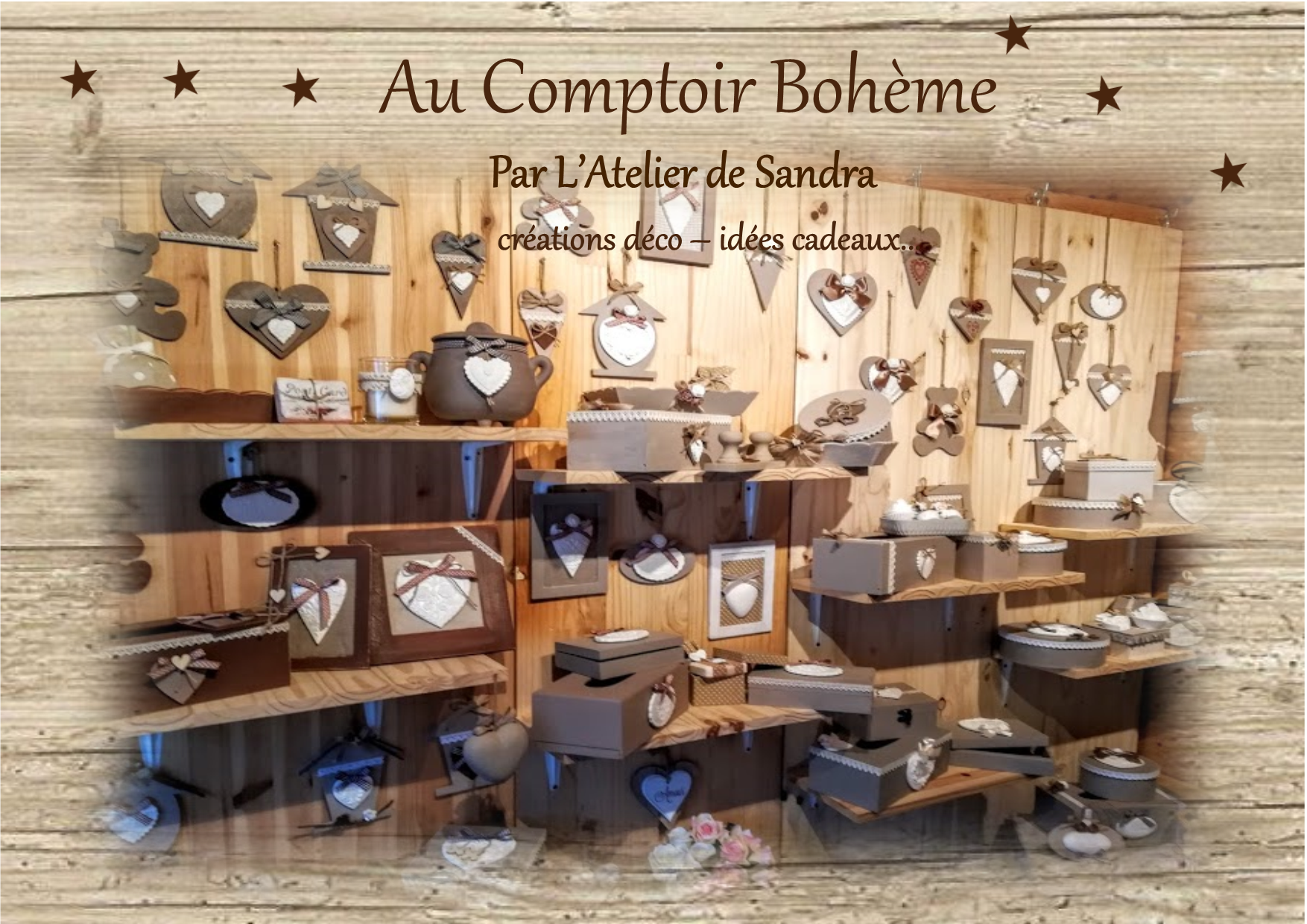 voici mon univers mon petit chalets atelier au comptoir boheme. Black Bedroom Furniture Sets. Home Design Ideas