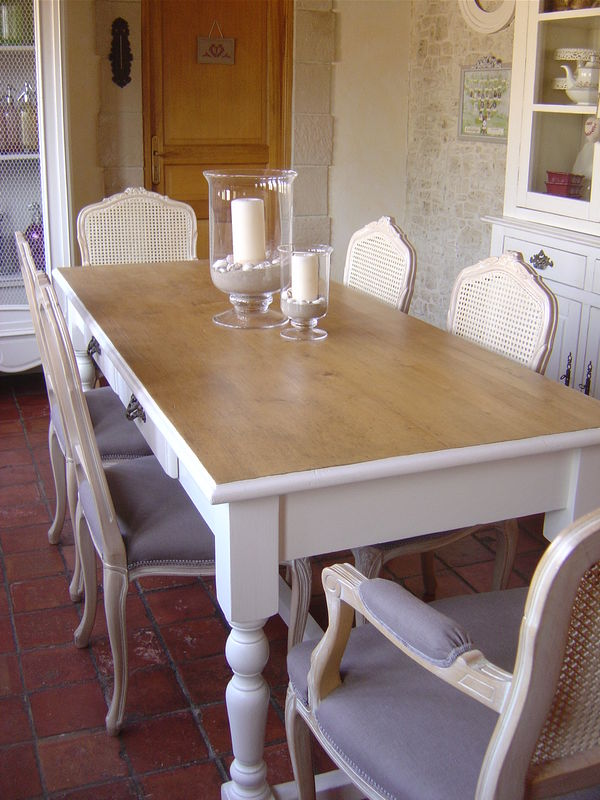 table de salle manger cottage et patine le blog. Black Bedroom Furniture Sets. Home Design Ideas