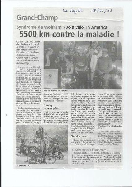 la gazette 19052013 jo in america