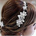 Barette décorative pour mariage fleur n° 9 ( réf bmm-9)
