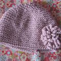 Tricot bonnet rose