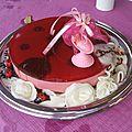 Cheese cake mousse de framboise et son miroir framboise