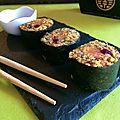 Makis aux quinoa, courge et pamplemousse