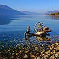 Lac du bourget entre le lido et les mottets