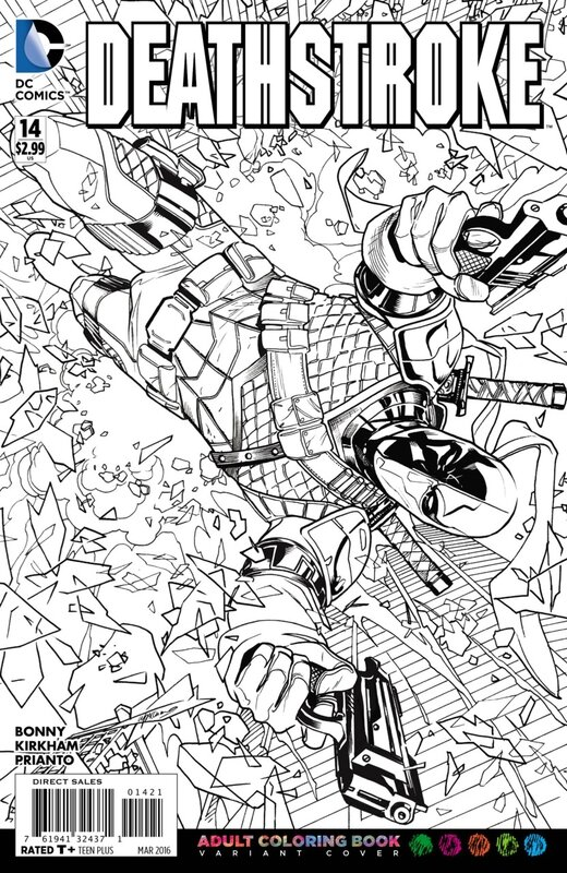 deathstroke 14 adult coloring variant