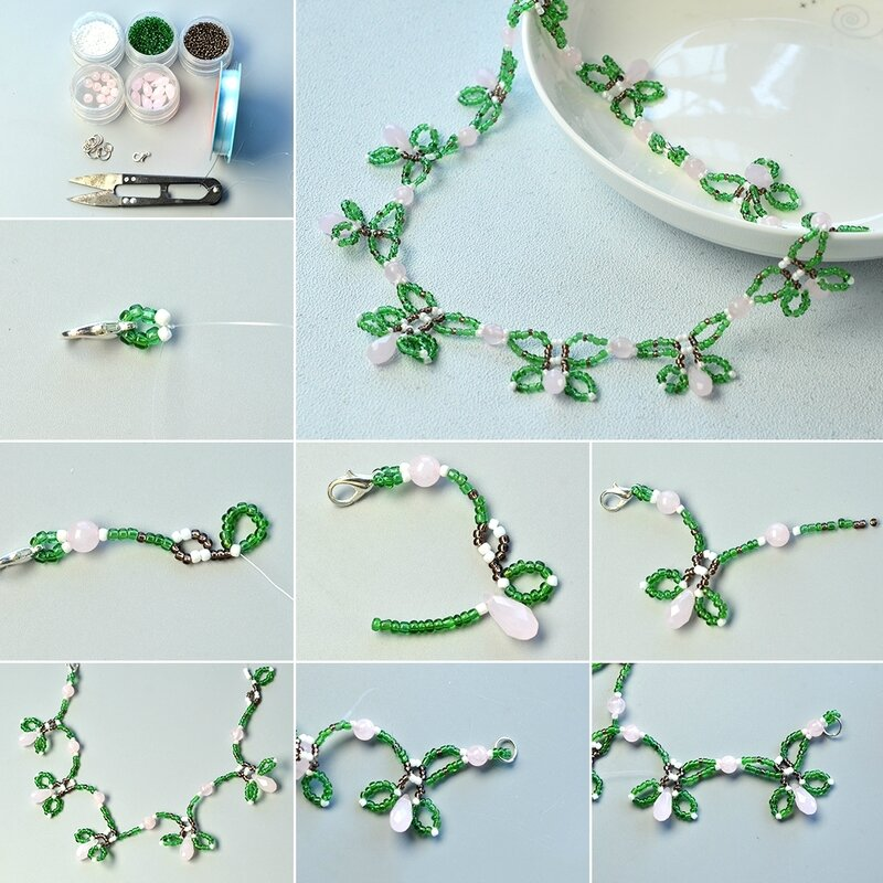 1080-Instructions-on-How-to-Make-a-Green-Beaded-Flower-Necklace