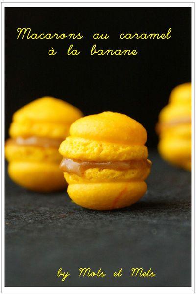 macarons banane - caramel 1