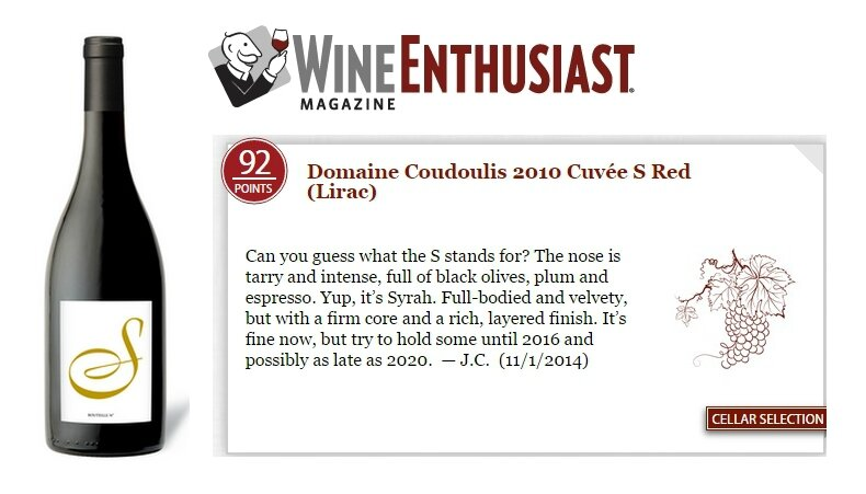 Cuvée S 2010 92 PTS WINE ENTHUSIAST