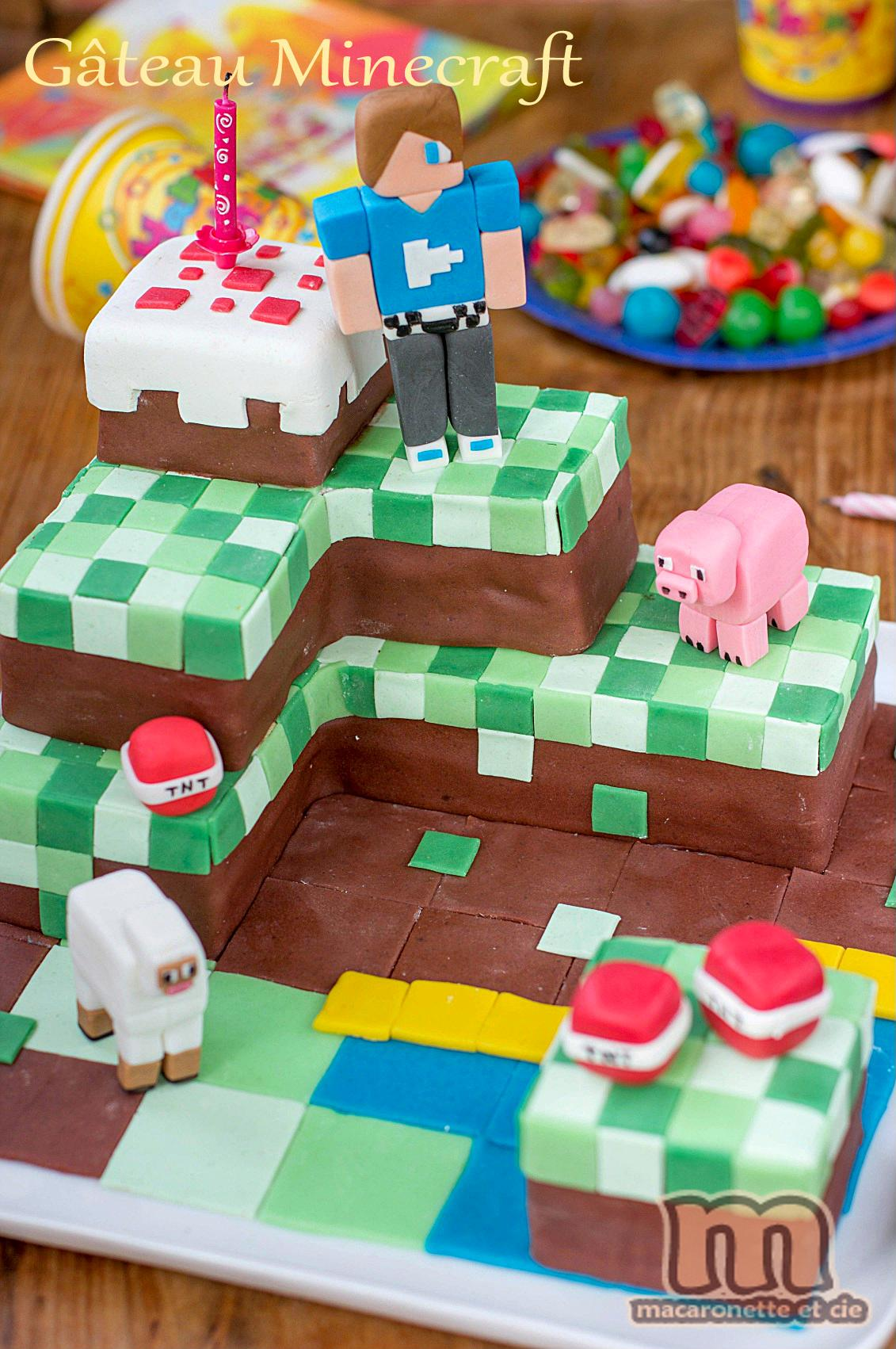 decoration gateau minecraft